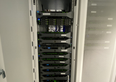 the image describes a full rack of servers for cloud delivery services